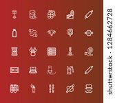 editable 25 cylinder icons for... | Shutterstock .eps vector #1284662728
