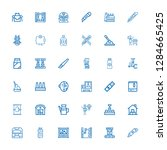 editable 36 production icons... | Shutterstock .eps vector #1284665425