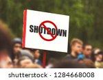 government shutdown usa concept ... | Shutterstock . vector #1284668008