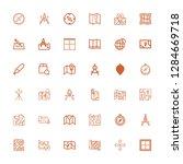 editable 36 cartography icons... | Shutterstock .eps vector #1284669718