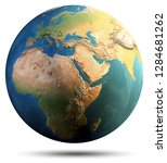 planet earth continents....   Shutterstock . vector #1284681262
