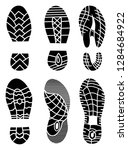 footprint icons isolated on... | Shutterstock . vector #1284684922