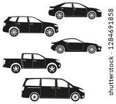 cars icon set  sedan  suv  van  ... | Shutterstock .eps vector #1284691858