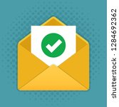 mail icon  envelope with... | Shutterstock .eps vector #1284692362
