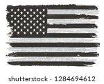 grunge black and white american ... | Shutterstock .eps vector #1284694612