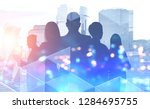 silhouettes of managers... | Shutterstock . vector #1284695755