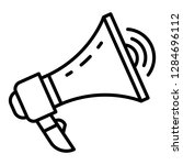 loud megaphone icon. outline... | Shutterstock . vector #1284696112