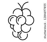 farm fresh grape icon. outline... | Shutterstock . vector #1284697855