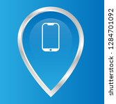 phone icon and map pin. logo...