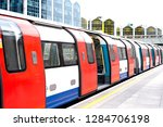 london underground tube train... | Shutterstock . vector #1284706198