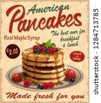 vintage pancakes poster.   Shutterstock .eps vector #1284713785