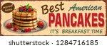 vintage pancakes metal sign. | Shutterstock .eps vector #1284716185