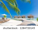 luxury beach. luxury travel... | Shutterstock . vector #1284720145