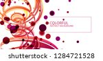 abstract swirling colored lines.... | Shutterstock .eps vector #1284721528