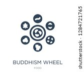 buddhism wheel icon vector on... | Shutterstock .eps vector #1284721765