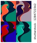 set of colorful patterns.... | Shutterstock .eps vector #1284722362