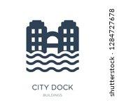 city dock icon vector on white... | Shutterstock .eps vector #1284727678