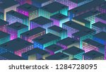 isometric background with a... | Shutterstock .eps vector #1284728095