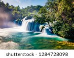 superb summer view of... | Shutterstock . vector #1284728098