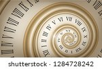 background with gold spiral...   Shutterstock .eps vector #1284728242