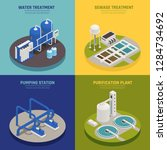 water cleaning concept icons...   Shutterstock .eps vector #1284734692