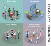 social credit score system... | Shutterstock .eps vector #1284734695