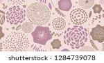 modern spring floral pattern.... | Shutterstock .eps vector #1284739078
