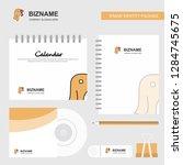 turkey logo  calendar template  ... | Shutterstock .eps vector #1284745675