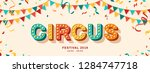circus banner with typography... | Shutterstock .eps vector #1284747718