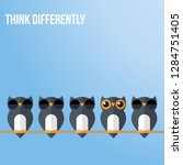 think differently   being... | Shutterstock .eps vector #1284751405