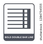 bold double bar line icon... | Shutterstock .eps vector #1284754555