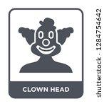 clown head icon vector on white ...   Shutterstock .eps vector #1284754642