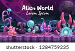 fantasy cartoon alien world... | Shutterstock .eps vector #1284759235