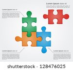 concept of colorful puzzle... | Shutterstock .eps vector #128476025