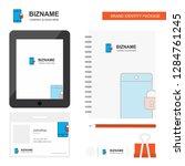 phone locked business logo  tab ... | Shutterstock .eps vector #1284761245
