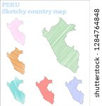 peru sketchy country. wonderful ... | Shutterstock .eps vector #1284764848