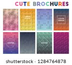 cute brochures. admirable... | Shutterstock .eps vector #1284764878