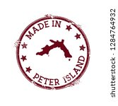 made in peter island stamp.... | Shutterstock .eps vector #1284764932