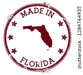 made in florida stamp. grunge... | Shutterstock .eps vector #1284764935