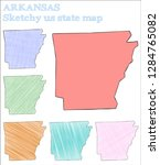 arkansas sketchy us state.... | Shutterstock .eps vector #1284765082