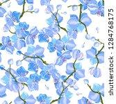 bohemian flowers pattern ... | Shutterstock .eps vector #1284768175