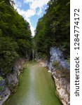 clear water through kaiserklamm ... | Shutterstock . vector #1284774172