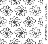 vector hand drawn flowers... | Shutterstock .eps vector #1284774268