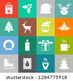 vector christmas icons set ... | Shutterstock .eps vector #1284775918