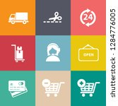 marketing icons set   vector... | Shutterstock .eps vector #1284776005