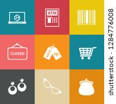 marketing icons set   vector... | Shutterstock .eps vector #1284776008