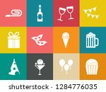 birthday party icons   vector... | Shutterstock .eps vector #1284776035