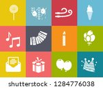 birthday party icons   vector... | Shutterstock .eps vector #1284776038