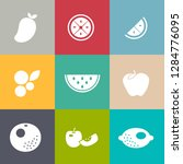 fruits icons set | Shutterstock .eps vector #1284776095