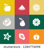 fruits icons set | Shutterstock .eps vector #1284776098